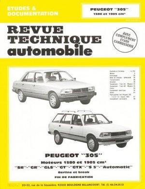 Peugeot ''305'' - etai - editions techniques pour l'automobile et l'industrie - 9782726844144 -