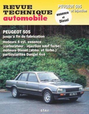 Peugeot 505  Essence et injection - etai - editions techniques pour l'automobile et l'industrie - 9782726872918 -