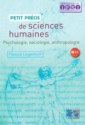 Petit précis de sciences humaines - lamarre - 9782757302590