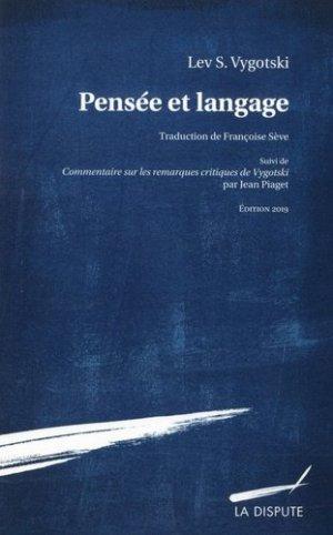 Pensée et langage - Dispute (La) - 9782843033018