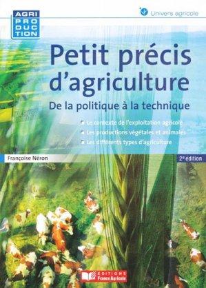 Petit précis d'agriculture - france agricole - 9782855573441 -