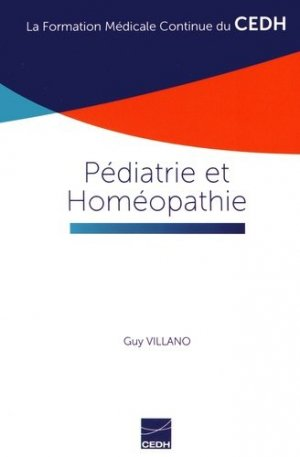 Pédiatrie et Homéopathie - cedh - 9782915668735 -