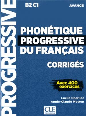 Phonétique progressive du français, corrigés - cle international - 9782090382051 -