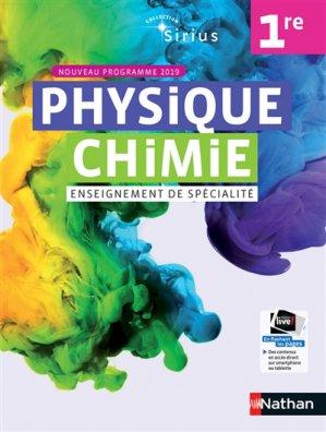Physique Chimie 1re Sirius Enseignement de spécialité - Nathan - 9782091729176 -