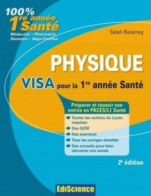 Physique Visa pour la 1re année santé - ediscience - 9782100530427 -