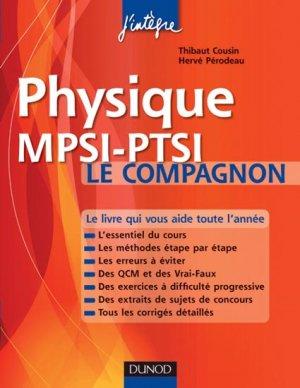 Physique MPSI-PTSI Le compagnon - dunod - 9782100556281 -