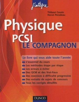 Physique  PCSI Le compagnon - dunod - 9782100556298 -