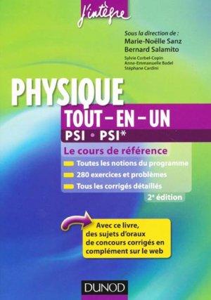 Physique Tout-en-un PSI - PSI* - dunod - 9782100578702 -