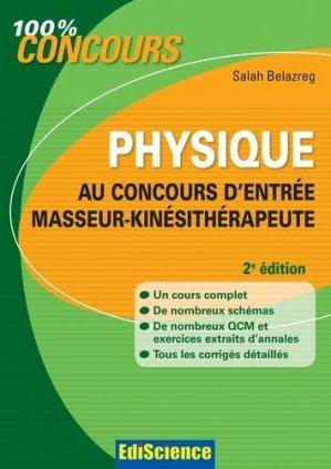 Physique au concours d'entrée Masseur-Kinésithérapeute - édiscience - 9782100580217 -