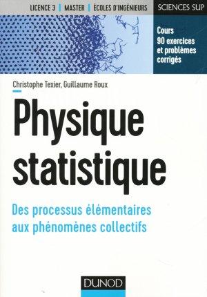 Physique statistique - Cours et exercices corrigés - dunod - 9782100742233