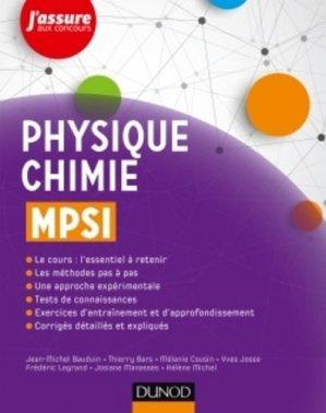 Physique-Chimie MPSI - dunod - 9782100762163 -