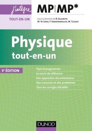 Physique tout-en-un MP-MP* - dunod - 9782100769773 -