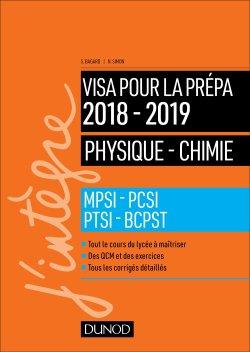 Physique-Chimie - Visa pour la prépa 2018-2019 - dunod - 9782100779338 -
