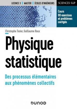 Physique statistique - Des processus élémentaires aux phénomènes collectifs - dunod - 9782100820344 -