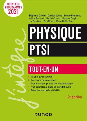Physique PTSI - Dunod - 9782100820931 -