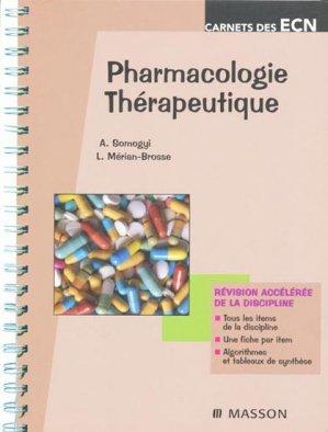 Pharmacologie - Thérapeutique - elsevier / masson - 9782294705038 -