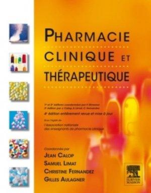 Pharmacie clinique et thérapeutique - elsevier / masson - 9782294711329 -