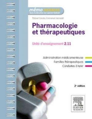 Pharmacologie et thérapeutiques-elsevier / masson-9782294746345