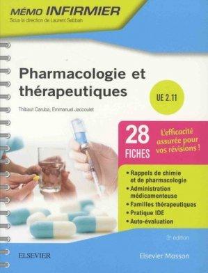Pharmacologie et thérapeutiques - elsevier / masson - 9782294760594 -