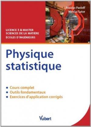 Physique statistique - vuibert - 9782311009668 -
