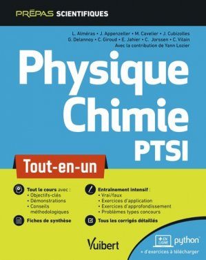 Physique-chimie PTSI - Vuibert - 9782311406870