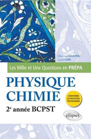 Physique-chimie 2e année BCPST - ellipses - 9782340001404 -