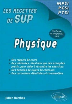 Physique MPSI - PCSI - PTSI - ellipses - 9782340002074 -