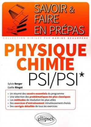 Physique-chimie PSI - ellipses - 9782340006485