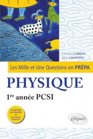 Physique 1re année PCSI - ellipses - 9782340008359 -