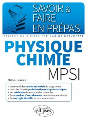 Physique-chimie MPSI - ellipses - 9782340013957