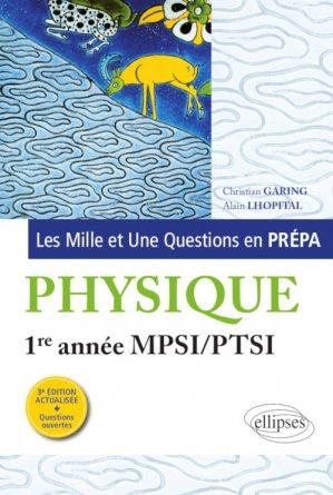 Physique 1re année MPSI-PTSI - ellipses - 9782340016651 -