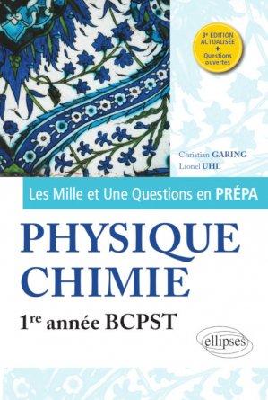 Physique-chimie 1re année BCPST - ellipses - 9782340017399 -