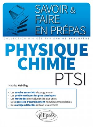 Physique chimie PTSI - ellipses - 9782340019478