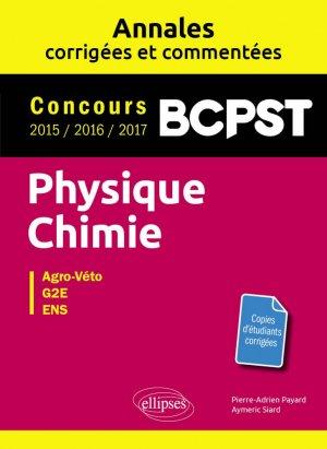 Physique-chimie BCPST - ellipses - 9782340020030 -