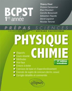 Physique-chimie BCPST 1re année - ellipses - 9782340020108 -