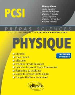 Physique PCSI - ellipses - 9782340023765 -