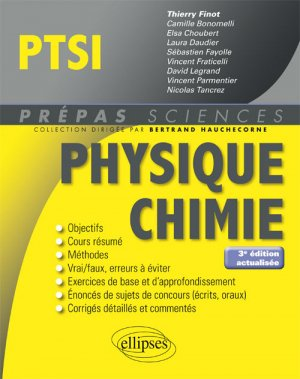 Physique chimie PTSI - ellipses - 9782340026285 -