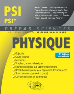 Physique PSI - PSI* - ellipses - 9782340027473 -