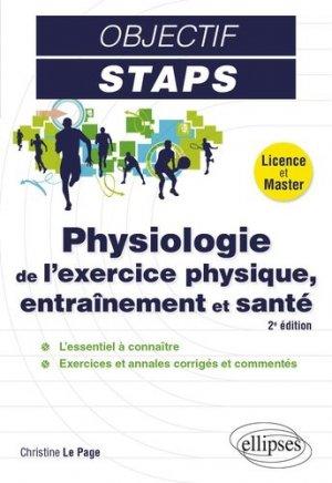 Physiologie de l'exercice physique, entraînement et santé - ellipses - 9782340036246 -