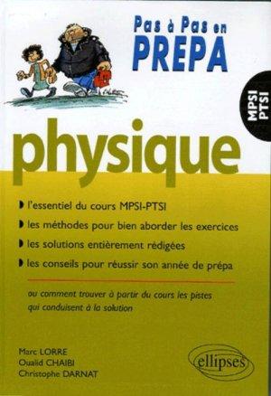 Physique MPSI - PTSI  - ellipses - 9782729817077 -