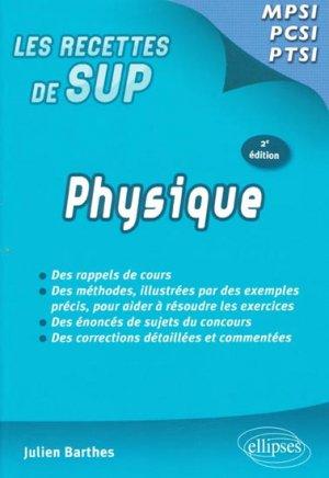 Physique MPSI - PCSI - PTSI - ellipses - 9782729860790 -