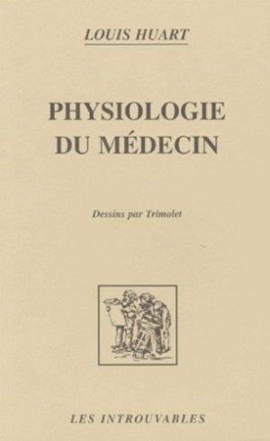 Physiologie du médecin - l'harmattan - 9782738462817 -