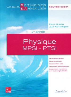 Physique MPSI - PTSI 1ère année - lavoisier / tec et doc - 9782743011444 -