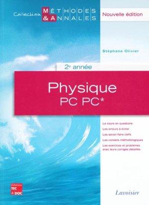 Physique PC* - PC 2ème année - lavoisier / tec et doc - 9782743011468 -
