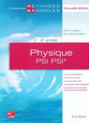 Physique PSI PSI* 2ème année - lavoisier / tec et doc - 9782743011482 -
