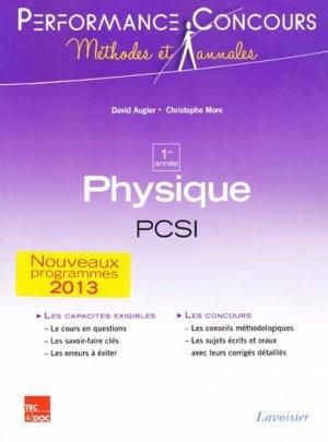 Physique 1ère année PCSI - lavoisier / tec et doc - 9782743015206 -