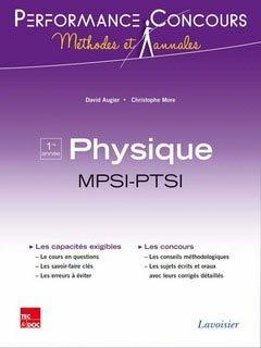 Physique MPSI - PTSI 1ère année - lavoisier / tec et doc - 9782743015213 -