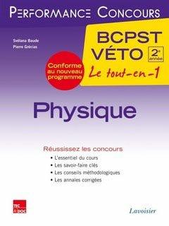 Physique 2ème année BCPST - Véto - lavoisier / tec et doc - 9782743015947 -