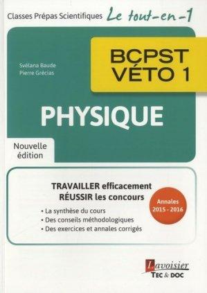 Physique BCPST - Véto 1 - lavoisier / tec et doc - 9782743022945 -