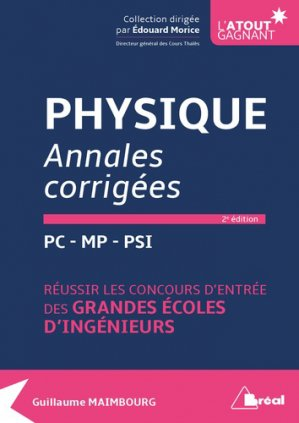Physique annales corrigées - bréal - 9782749538945 -